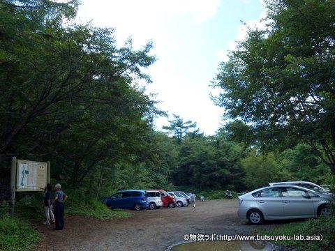 吉田口馬返登山口の駐車場