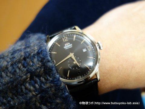 オリエント腕時計 RN-AP0005Bを私服(オフ)で着用