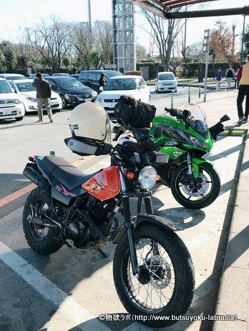 関越自動車道 三芳PA下り 2輪駐車スペースの画像