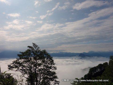 魚沼スカイライン十二峠の途中で見えた雲海