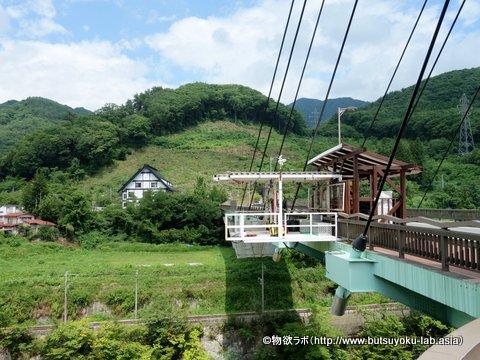 水上町諏訪峡のバンジージャンプ飛び込み口