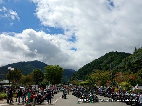 2018年9月16日の道の駅 どうしのバイク駐車場
