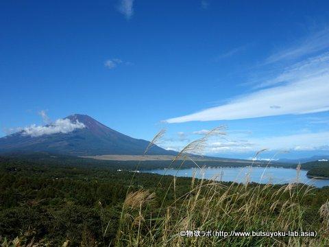 2018年9月17日の山中湖パノラマ台から見える富士山