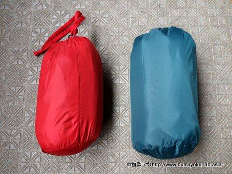 ユニクロ ウルトラライトダウンジャケットとの大きさ比較