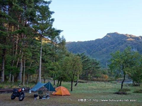 キャンプファイヤーサイト兼テントサイト